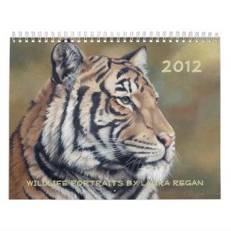 2012 12か月の野性生物の芸術のカレンダー カレンダー