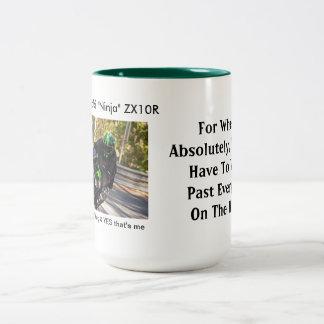 2012 ZX10Rのための時あらゆるGixxerを過ぎたwheelie ツートーンマグカップ
