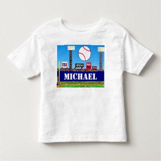 2013人の子供のスポーツの名前入りな野球のTシャツのギフト トドラーTシャツ