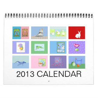 2013人の子供の動物のカレンダー カレンダー