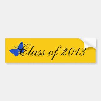 2013年のクラス-青および金ゴールド バンパーステッカー