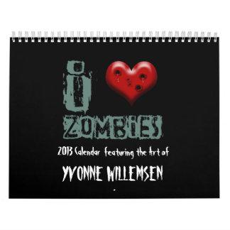2013年のゾンビのカレンダー カレンダー