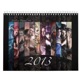 2013年のファンタジーのカレンダー カレンダー