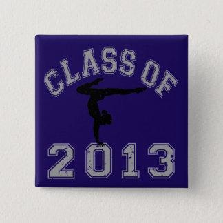 2013年の体操のクラス 5.1CM 正方形バッジ