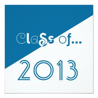 2013年の卒業生の招待状のきれいなおもしろいの文字のクラス 13.3 スクエアインビテーションカード
