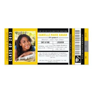 2013年の卒業VIPの入場のチケットのクラス カード
