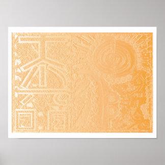 2013年のver。 金ゴールドホイルの霊気 ポスター