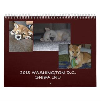 2013年のWashington D.C.の柴犬 カレンダー