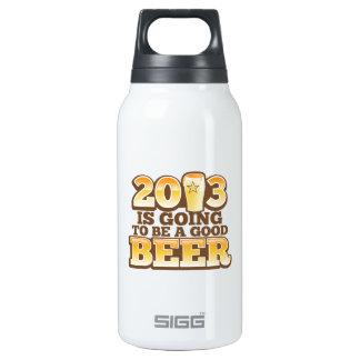 2013年はよいビールであることを行っています! (新年のパロディ) 断熱ウォーターボトル