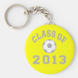 2013年サッカーのクラス-灰色2の キーホルダー