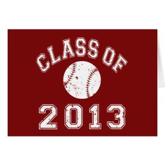 2013年野球のクラス-白の カード
