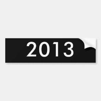 2013年 バンパーステッカー