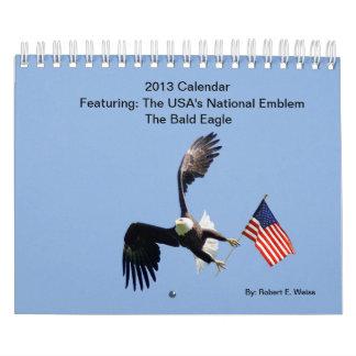 2013/特色になる禿げたイーグルスの暦年 カレンダー