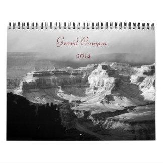 2014グランドキャニオンB/Wの写真のカレンダー カレンダー