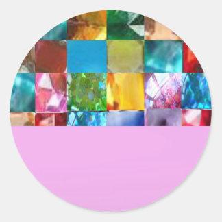 2014季節の円形のお祝いの陰 ラウンドシール