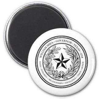 2014年にテキサス州の知事のためのシール4のウィリアムのシアバター マグネット