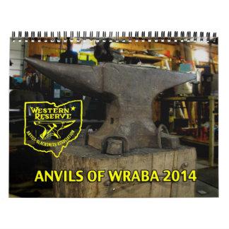 2014年のカスタムによって印刷されるカレンダーのためのWRABAの金敷 カレンダー