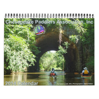2014年のチェサピークのPaddlers連合のカレンダー カレンダー