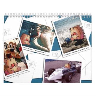 2014年のハリネズミのカレンダー カレンダー