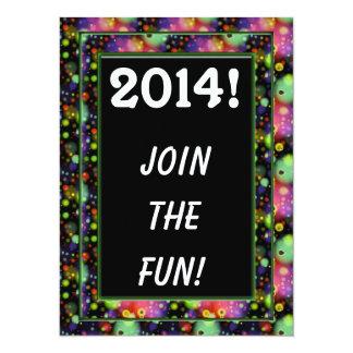 2014年のパーティの招待状 カード