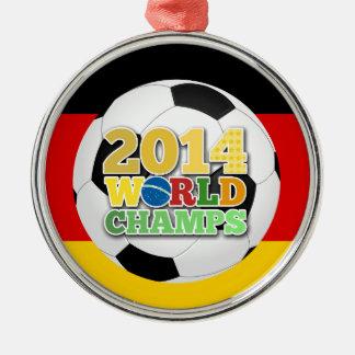 2014年の世界は球ドイツをむしゃむしゃ食べます メタルオーナメント