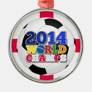 2014年の世界は球-イギリス--をむしゃむしゃ食べます メタルオーナメント