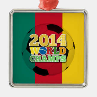2014年の世界は球-カメルーン--をむしゃむしゃ食べます メタルオーナメント
