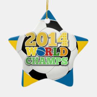 2014年の世界は球-スウェーデン--をむしゃむしゃ食べます セラミックオーナメント