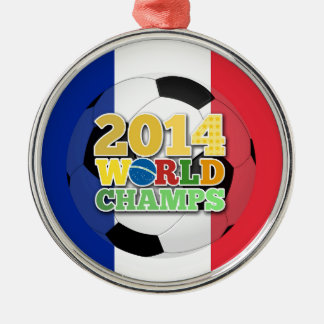2014年の世界は球-フランス--をむしゃむしゃ食べます メタルオーナメント