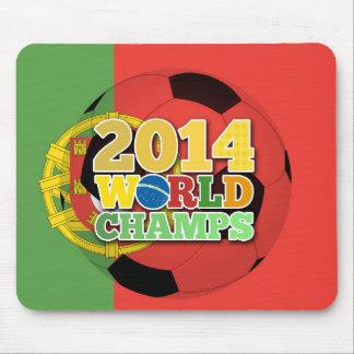 2014年の世界は球-ポルトガル--をむしゃむしゃ食べます マウスパッド