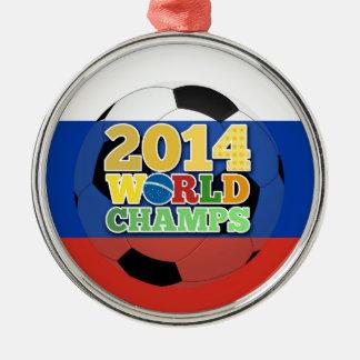 2014年の世界は球-ロシア--をむしゃむしゃ食べます メタルオーナメント