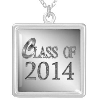 2014年の卒業のネックレスのクラス シルバープレートネックレス