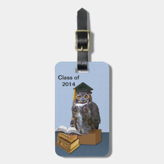 2014年の卒業のフクロウのユーモアのあるなクラス ラゲッジタグ