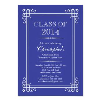 2014年の卒業パーティーのフォーマルでエレガントなクラス 12.7 X 17.8 インビテーションカード