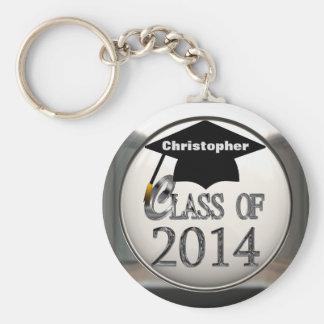 2014年のKeychainの銀製のクラス キーホルダー