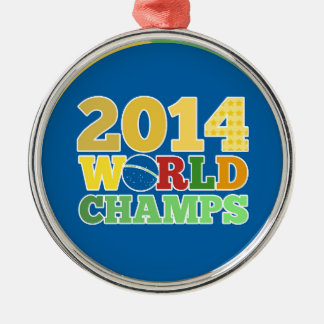 2014年世界のチャンピオン-ブラの メタルオーナメント