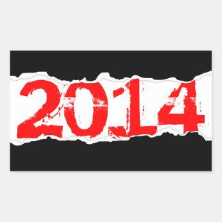 2014年(ページの破損) 長方形シール