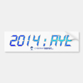 2014年: 賛成バンパーステッカー バンパーステッカー