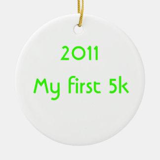 2014私の最初5k セラミックオーナメント