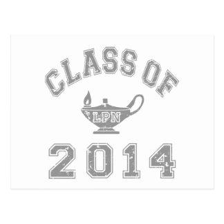 2014 LPNのクラス-灰色2 ポストカード