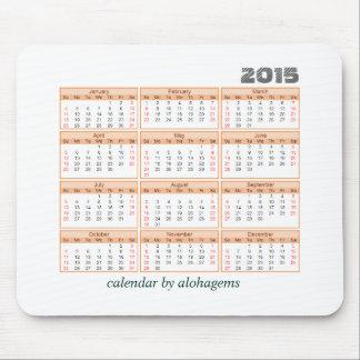 2015のカレンダーのマウスパッドのシンプルなオレンジ蜜柑 マウスパッド