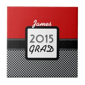 2015のクラスはあらゆる年のカスタムで赤い黒A10を点検します タイル