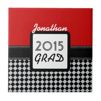 2015のクラスはあらゆる年のカスタムで赤い黒A9を点検します タイル