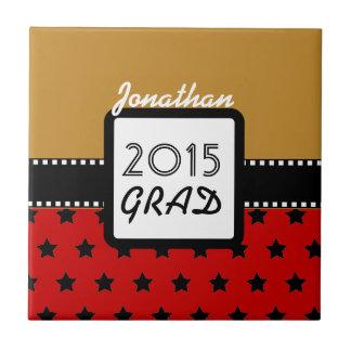 2015の年のカスタムで赤い金ゴールドの星A8のクラス タイル