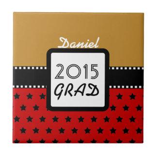 2015の年のカスタムで赤い金ゴールドの星A9のクラス タイル