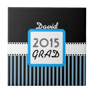 2015の年の名前をカスタムするの青い縞A4のクラス タイル