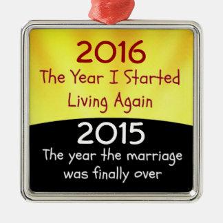 2015の離婚のお祝い メタルオーナメント