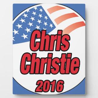 2015年に大統領のためのクリスChristie フォトプラーク