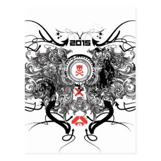 2015年のスカルスクロール ポストカード
