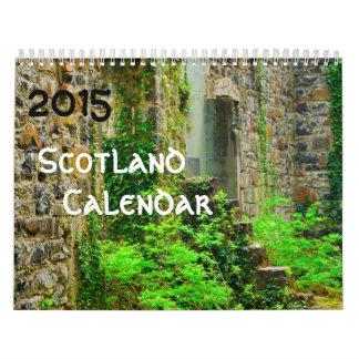 2015年のスコットランドのカレンダー カレンダー